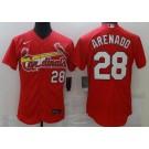 Men's St Louis Cardinals #28 Nolan Arenado Red FlexBase Jersey