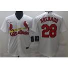 Men's St Louis Cardinals #28 Nolan Arenado White Cool Base Jersey