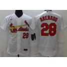 Men's St Louis Cardinals #28 Nolan Arenado White FlexBase Jersey