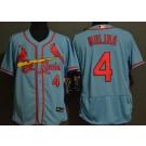 Men's St Louis Cardinals #4 Yadier Molina Blue FlexBase Jersey