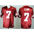 Men's Stanford Cardinals #7 John Elway Red College Football Jersey
