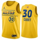 Men's Stephen Curry Yellow 2021 All Star Hot Press Jersey