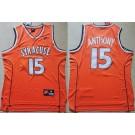 Men's Syracuse Orange #15 Camerlo Anthony Orange College Basketball Jersey