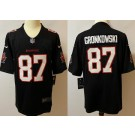 Men's Tampa Bay Buccaneers #87 Rob Gronkowski Limited Black Vapor Untouchable Jersey