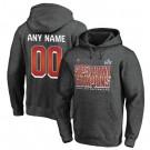 Men's Tampa Bay Buccaneers Custom Gray 2021 Super Bowl LV Champions Pullover Hoodie 210304