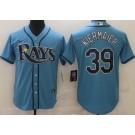 Men's Tampa Bay Rays #39 Kevin Kiermaier Light Blue Cool Base Jersey