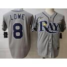 Men's Tampa Bay Rays #8 Brandon Lowe Gray 2020 Cool Base Jersey