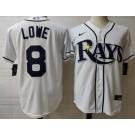 Men's Tampa Bay Rays #8 Brandon Lowe White 2020 Cool Base Jersey