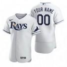 Men's Tampa Bay Rays CustomizedWhite 2020 FlexBase Jersey