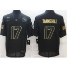 Men's Tennessee Titans #17 Ryan Tannehill Limited Black 2020 Salute To Service Jersey