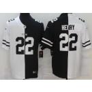 Men's Tennessee Titans #22 Derrick Henry Limited Black White Split Jersey