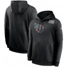Men's Tennessee Titans Black Crucial Catch Sideline Performance Pullover Hoodie