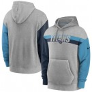 Men's Tennessee Titans Gray Heathered Heritage Tri Blend Pullover Hoodie