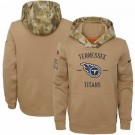 Men's Tennessee Titans Khaki 2019 Salute to Service Therma Printed Pullover Hoodie