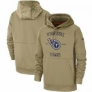 Men's Tennessee Titans Tan 2019 Salute to Service Sideline Therma Printed Pullover Hoodie