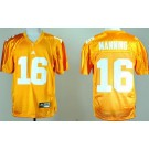 Men's Tennessee Volunteers #16 Peyton Manning Golden College Football Jersey