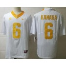 Men's Tennessee Volunteers #6 Alvin Kamara White College Football Jersey
