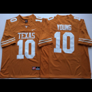 Men's Texas Longhorns #10 Vince Young Yellow 2018 College Football Jersey