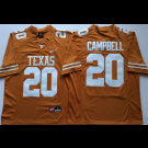 Men's Texas Longhorns #20 Earl Campbell Yellow 2018 College Football Jersey
