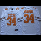 Men's Texas Longhorns #34 Ricky Williams White 2018 College Football Jersey