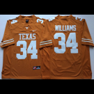Men's Texas Longhorns #34 Ricky Williams Yellow 2018 College Football Jersey
