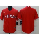 Men's Texas Rangers Blank Red Cool Base Jersey