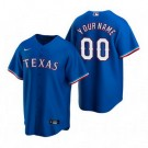 Men's Texas Rangers Customized Blue Alternate 2020 Cool Base Jersey