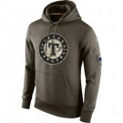 Men's Texas Rangers Green Salute To Service Printed Pullover Hoodie