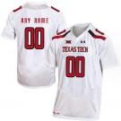 Men's Texas Tech Customized White College Football Jersey