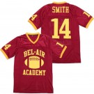 Men's The Fresh Prince Bel Air Academy #14 Will Smith Red Football Jersey