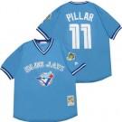 Men's Toronto Blue Jays #11 Kevin Pillar Light Blue Throwback Jersey