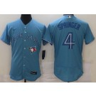Men's Toronto Blue Jays #4 George Springer Light Blue FlexBase Jersey