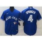 Men's Toronto Blue Jays #4 George Springer Royal Cool Base Jersey