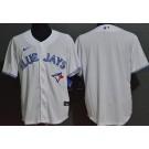 Men's Toronto Blue Jays Blank White Cool Base Jersey
