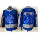 Men's Toronto Maple Leafs #34 Auston Matthews Blue 2021 Reverse Retro Authentic Jersey