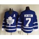 Men's Toronto Maple Leafs #7 Tim Horton Blue Throwback Jersey