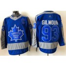 Men's Toronto Maple Leafs #93 Doug Gilmour Blue 2021 Reverse Retro Authentic Jersey