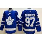 Men's Toronto Maple Leafs #97 Joe Thornton Blue Authentic Jersey