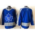 Men's Toronto Maple Leafs Blank Blue 2021 Reverse Retro Authentic Jersey