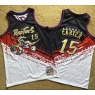 Men's Toronto Raptors #15 Vince Carter Black Red White 1998 Independence Day Authentic Jersey