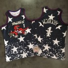 Men's Toronto Raptors #1 Tracy McGrady Black Independence Day Authentic Jersey