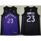 Men's Toronto Raptors #23 Fred VanVleet Black Purple 2021 Earned Icon Sponsor Swingman Jersey