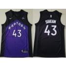 Men's Toronto Raptors #43 Pascal Siakam Black Purple 2021 Earned Icon Sponsor Swingman Jersey