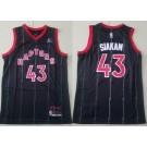 Men's Toronto Raptors #43 Pascal Siakam Black Statement Icon Sponsor Swingman Jersey