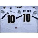 Men's UCF Knights #10 Mckenzie Milton White College Football Jersey