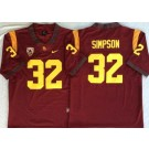 Men's USC Trojans #32 OJ Simpson Red 2019 College Football Jersey