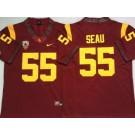 Men's USC Trojans #55 Junior Seau Red 2020 College Football Jersey