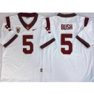 Men's USC Trojans #5 Reggie Bush White 2019 College Football Jersey
