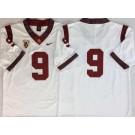 Men's USC Trojans #9 Kedon Slovis White 2019 College Football Jersey