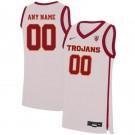 Men's USC Trojans Customized White 2019 College Basketball Jersey